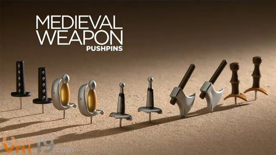 Medieval Weapon Pushpins