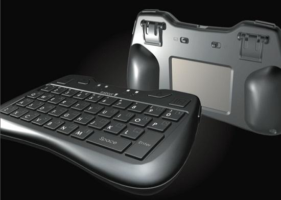 Thumb Keyboard With Rear-Facing Trackpad