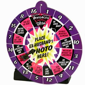 Divorce Diva Magnetic Dartboard