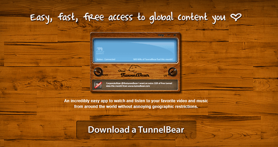 Use TunnelBear to access sites restricted to the US or UK