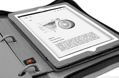 BinderPad lets you carry your tablet in a 3 ring binder
