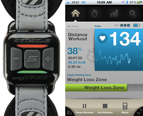 Scosche myTrek keeps track of your body during your workout