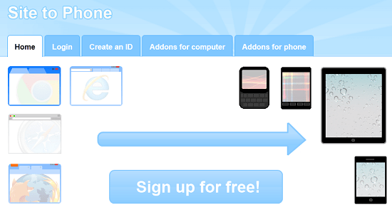 Quickly send links to your phone with Site to Phone