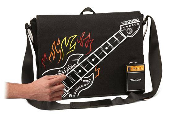 ThinkGeek's Electronic Rock Guitar Bag goes to 11