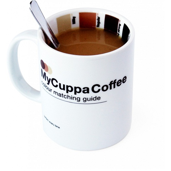 My Cuppa Coffee Mug helps you make the perfect cup of Joe