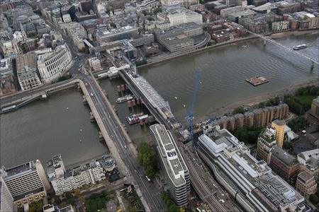 New solar bridge being built at Blackfriars Railway Station