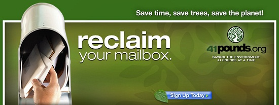 Eliminate your junk (snail) mail with 41Pounds
