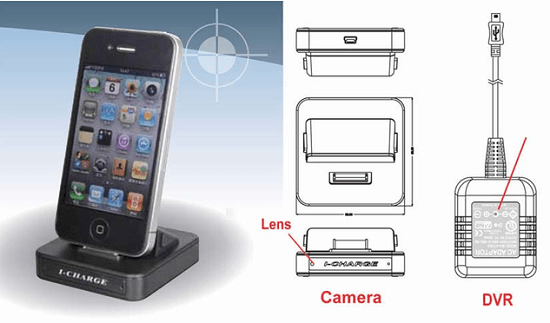 iCharge is a spy cam disguised as an iPhone charger
