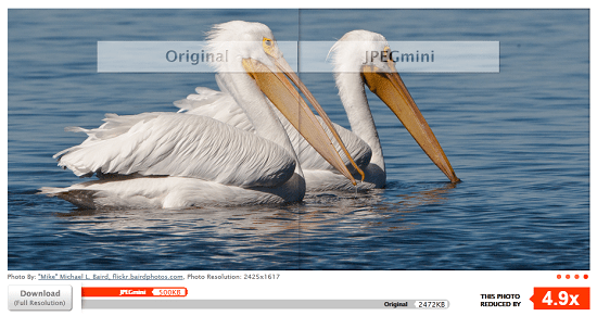 JPEGmini shrinks your images without losing quality