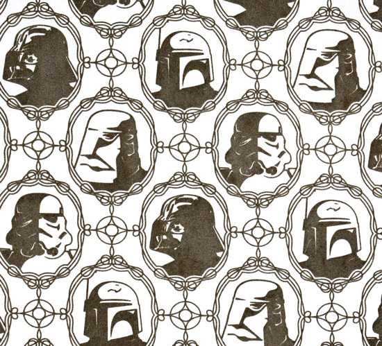 Victorian Star Wars Wallpaper keeps your room classy