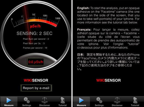 WikiSensor turns your iPhone into a Geiger counter