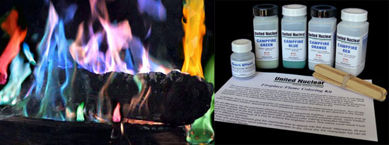 Fireplace Flame Coloring Kit