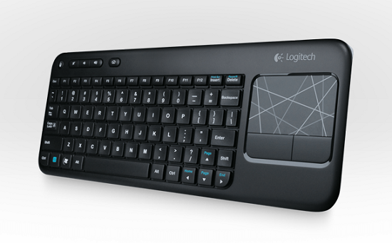Logitech Wireless Touch Keyboard K400 was built for the living room