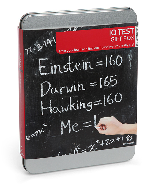 IQ Test Gift Box will confirm your suspicions of being a genius