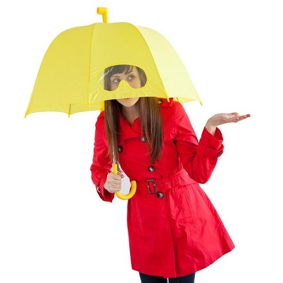 Goggles Umbrella lets you peek through