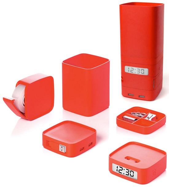Lexon Minitotem is a vertical organizer for your desk