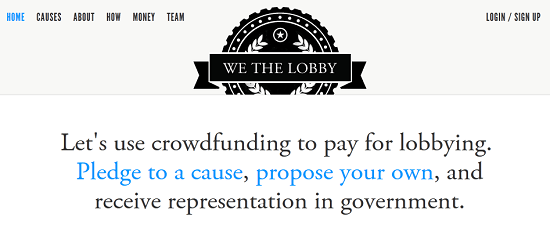We The Lobby uses crowdfunding to lobby for non-corporate causes [Daily Freeware]