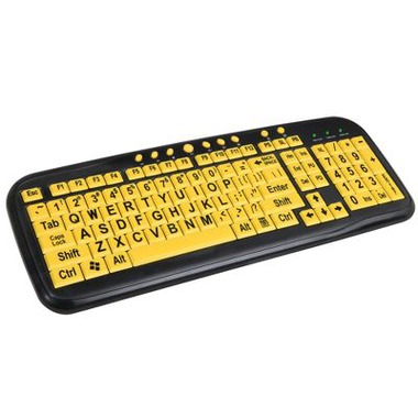 High Contrast Keyboard helps those with vision issues