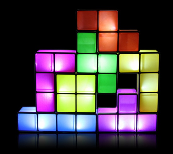 Tetris Desk Lamp will fit just about anywhere