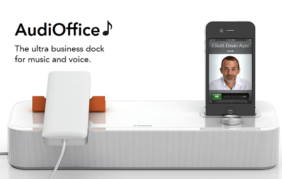 Invoxia AudiOffice is a perfect docking station for your iOS devices