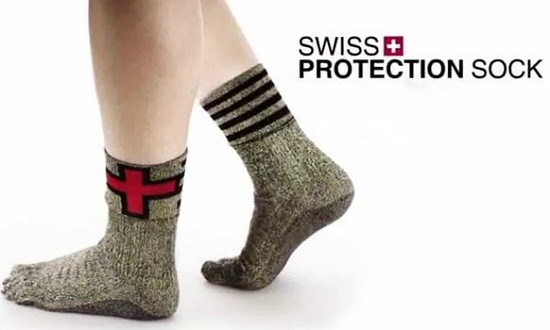 Swiss Protection Socks are made of kevlar