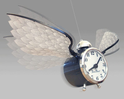 Time actually flies with this Flying Novelty Clock