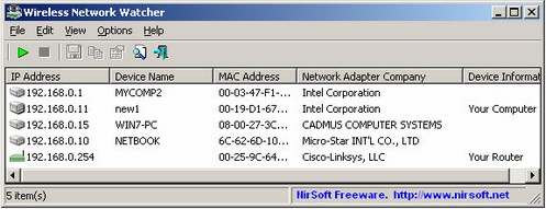 wirelessnetworkwatcher small Wireless Network Watcher keeps an eye on your WiFi network connections  [Daily Freeware]