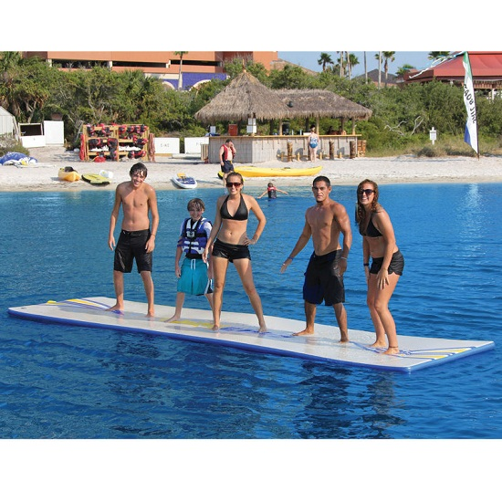 Inflatable Walk On Water Mat might make you seasick