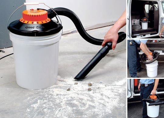 SpeedClean BucketVac turns a boring bucket into a mini shop vac