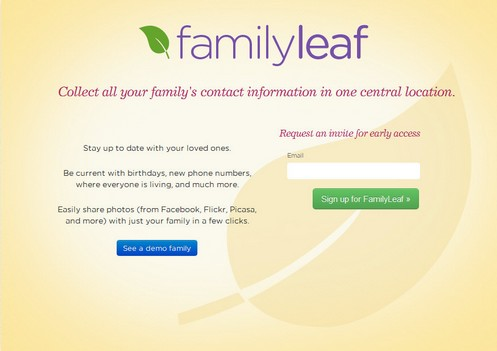 familyleaf small Family Leaf gives you a private family room on the Web