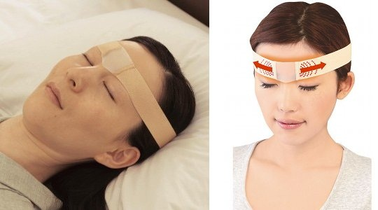 Brow Stretcher fights face wrinkles while you sleep