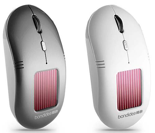 SolarWirelessOpticalMouse Bondidea Solar Wireless Mouse moves your cursor using the power of the sun