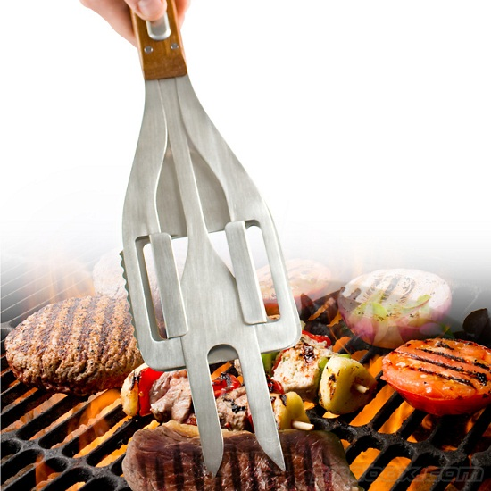 Stake 3-in-1 BBQ Tool is the Swiss Army Knife of summer grill outs