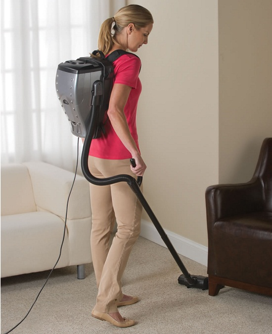 The Backpack Vacuum is a proton pack for dust bunnies
