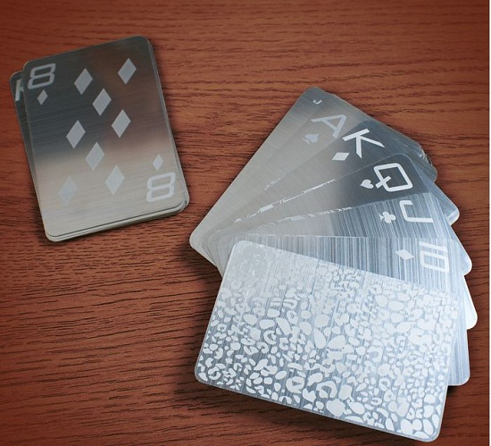 Stainless Steel Playing Cards will make cheating very difficult