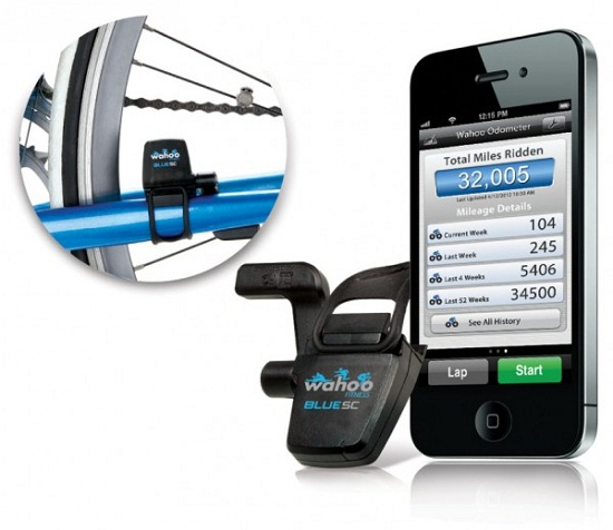 Wahoo Blue SC acts as a pedometer for your bike