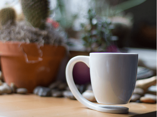 The Floating Mug gives you a coaster anytime, anywhere