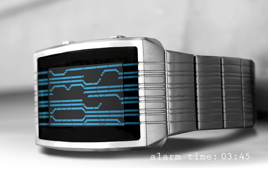 Kisai Online LCD Watch makes it look like you can read the Matrix