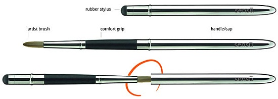 Sensu Capacitive Touch Artist Brush mixes the old and the new