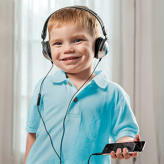 Kids Headphones for iDevices are designed with them in mind