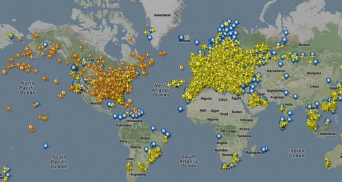 flightradar24e Awesome FlightRadar24 lets you track live air traffic across the world...