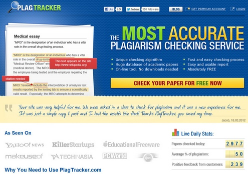 plagtracker PlagTracker   the most accurate plagiarism checking service