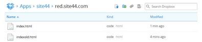 Site44 turns Dropbox folders into websites