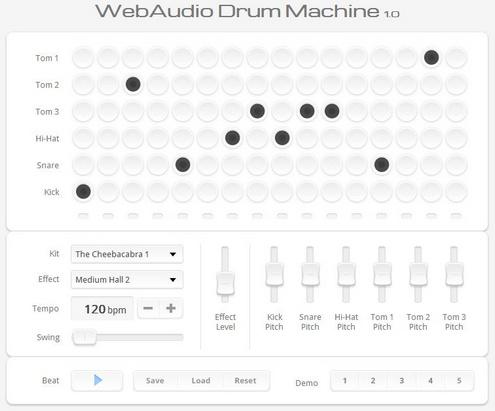 Web Audio Drum Machine – cool free online beat maker
