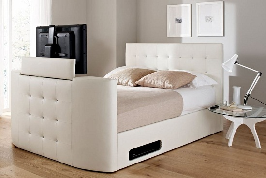 Atlantis Leather Ottoman TV Bed is a secret oasis in your room