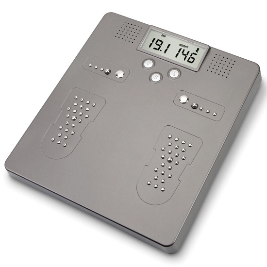 Full Body Scale Foot Inflammation Monitor Complete Scale and Foot Inflammation Monitor – one foot in front of the other