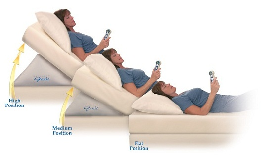 Mattress Genie turns your bed into a recliner