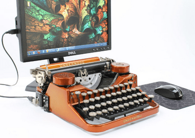 USB Typewriter Conversion Kit – turn your old typewriter into a computer or tablet keyboard