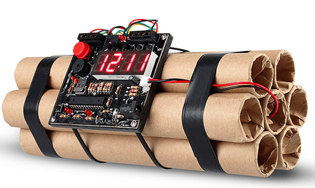 USB Time Bomb Alarm Clock – items not to pack in your aircraft carry on…Part VIII