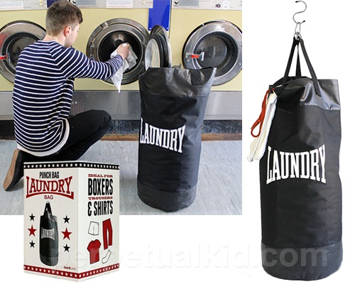Punching Bag Laundry Bag gives you anger management and clean clothes